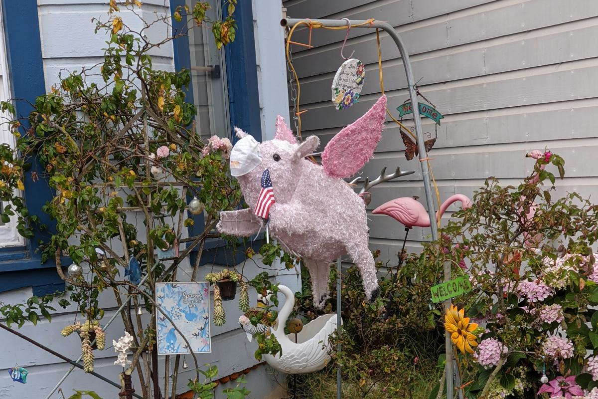 photo: front yard display