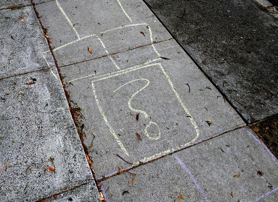 picture: faint traces of hopscotch