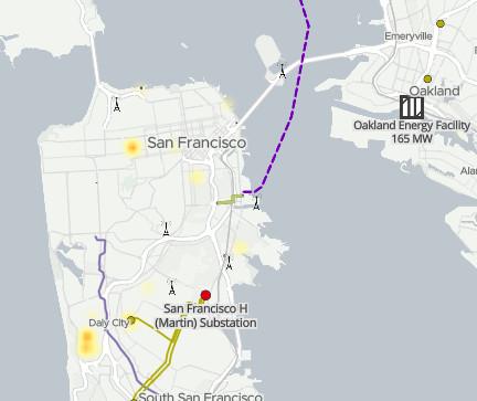 [screenshot: San Francisco part of the map]