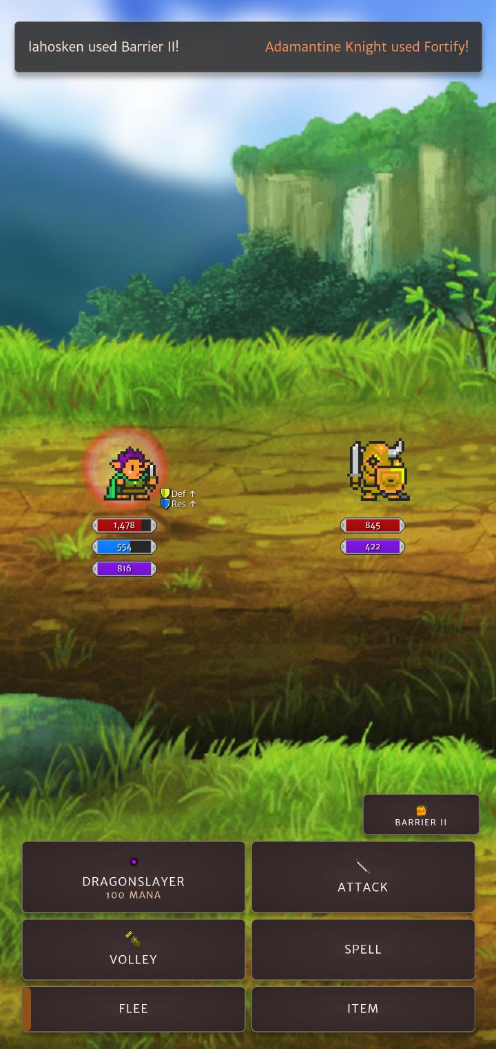 screenshot depicting a little battle