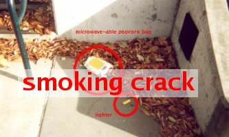 smoking crack