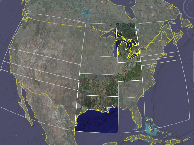 [Map of USA mostly grayed out, but with some middle states highlighted]
